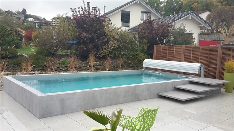 Nos r alisations oberson s rl piscine spas et for Piscine semi enterree coque